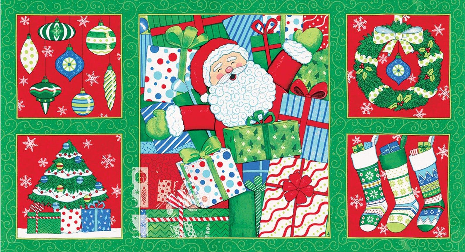 Ho! Ho! Ho! panel - 23 x 44 *