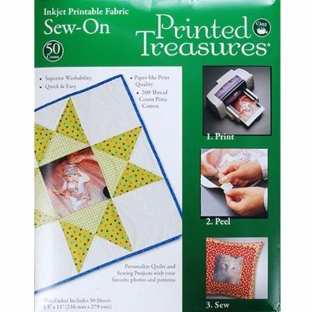 Printed Treasures 8.5 x 11 sew-on inkjet printable fabric