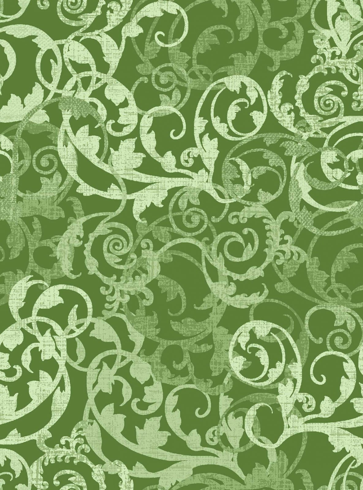 Enchanted Cotton Damask Green