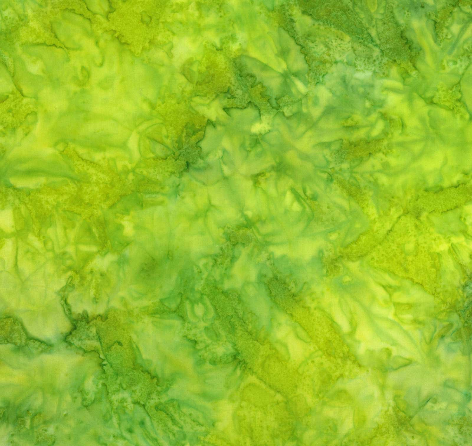 Hand Dyed Batiks Lime