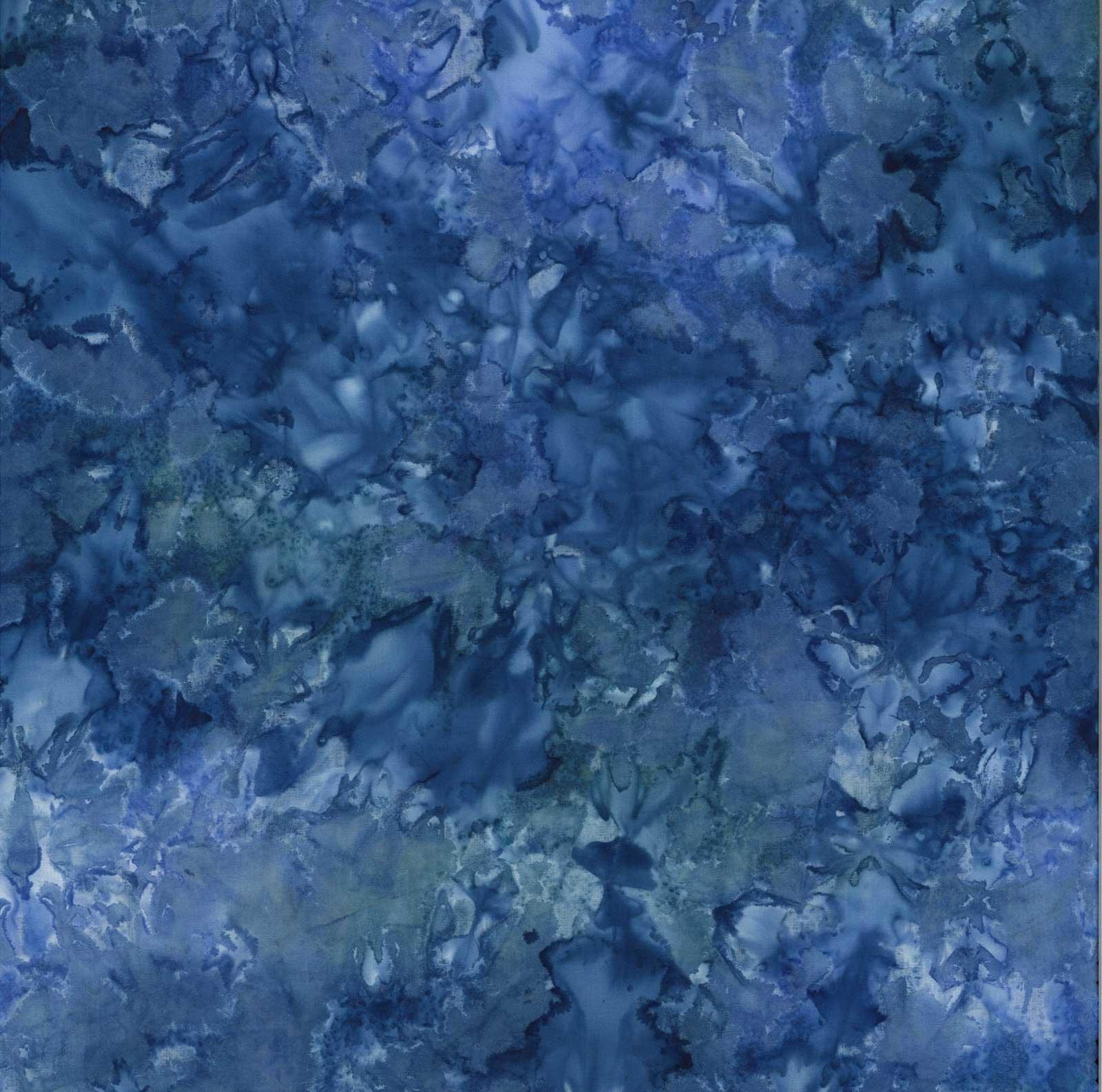 Hand Dyed Batiks Blue