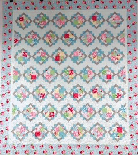 Cathedral Square Quilt Kit  88 x 98