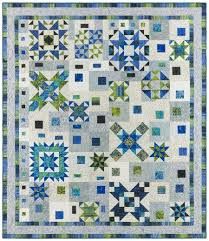 Graphic Gems Quilt Kit Lapis & Emerald