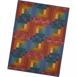 12 Block Log Cabin Quilt Maywood Studio