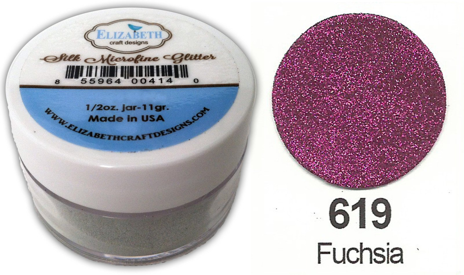 SILK MICROFINE GLITTER - FUCHSIA