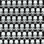 Gothic Glam Metallic Skulls