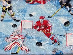 Hockey Ice Blue Flannel