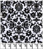Minky Black and White Print