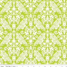 Medium Damask Flannel Lime
