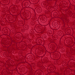 Harmony Flannel Red Swirls