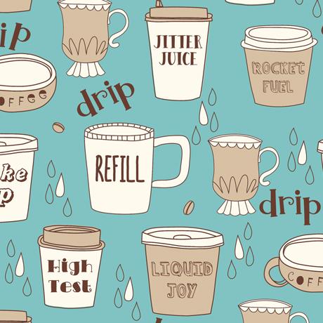 Caf-fiend Coffe Cups