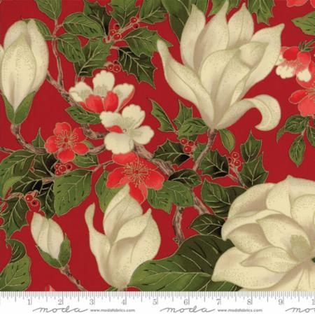 Magnolia Metallics Red Floral