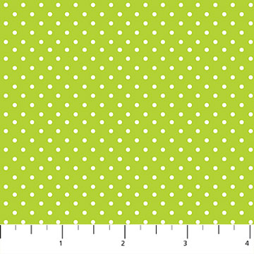 Hello Baby Flannel Lime Dot