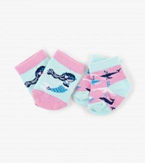 Baby Socks: Mermaid 0-12M