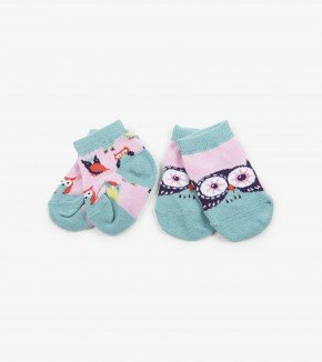 Baby Socks: Owls 0-12M