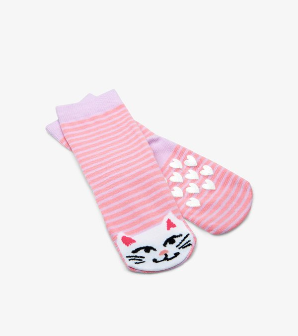 Cat Kids Animal Socks 4-7 Yrs