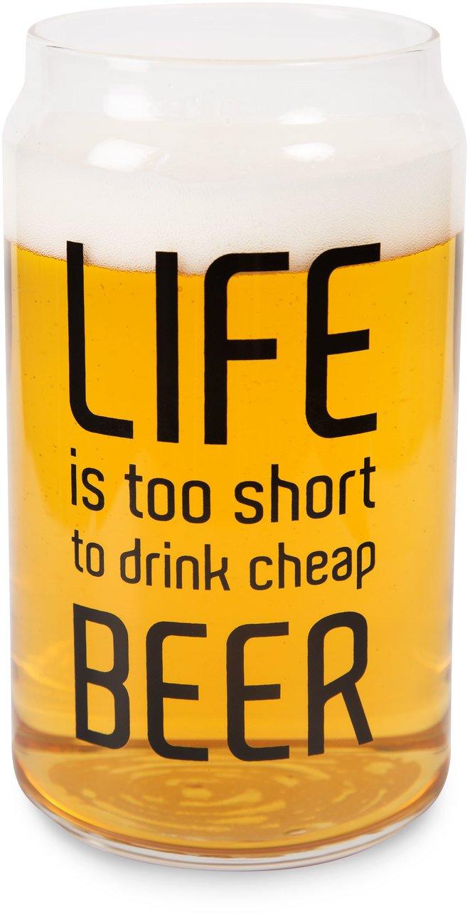 Life's too Short Glass/Tea Light Holder