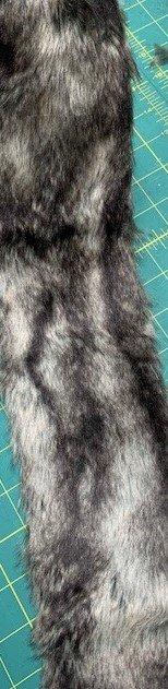 Dark Color Beard Faux Fur 4 x 18
