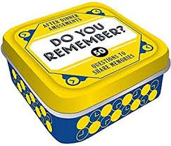 After Dinner Amusements:Do You Remember