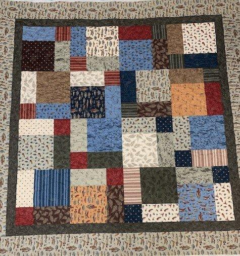 Lisa's Lap Quilt 72x72 Fish