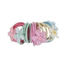 Hair ties with Flowers multi colors