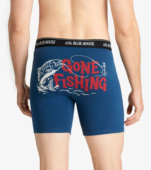 Boxer Brief: Gone Fishing Large