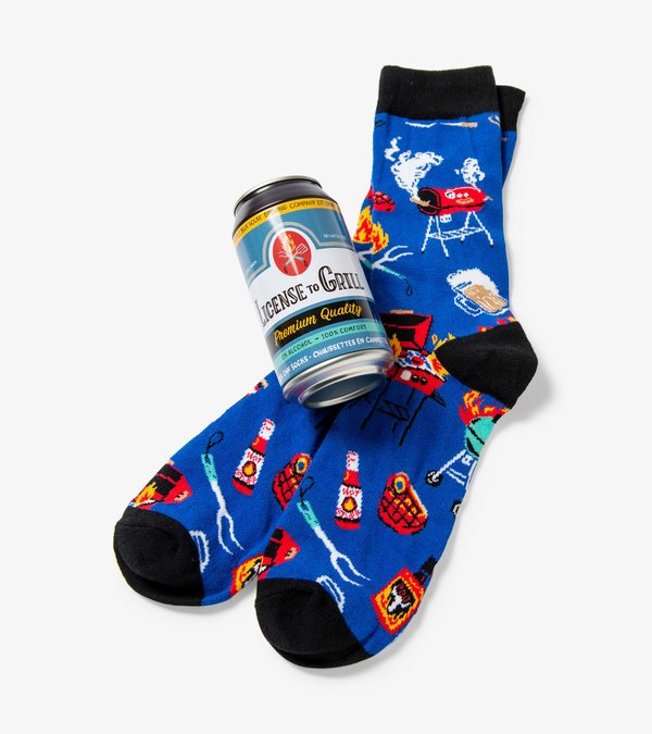 License to Grill Beer Can Socks