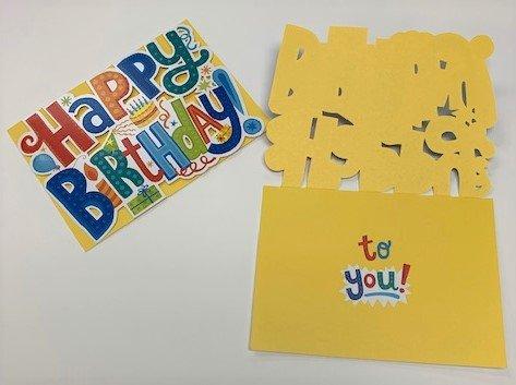 Card Happy Birthday Bright