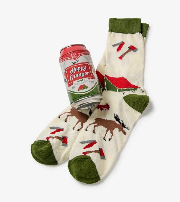 Happy Camper Beer Can Socks