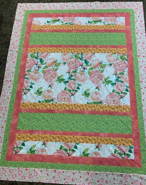 Honor Quilt Kit  57 x 76in Abbey Rose