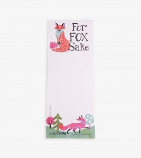 Note pad: For Fox Sake