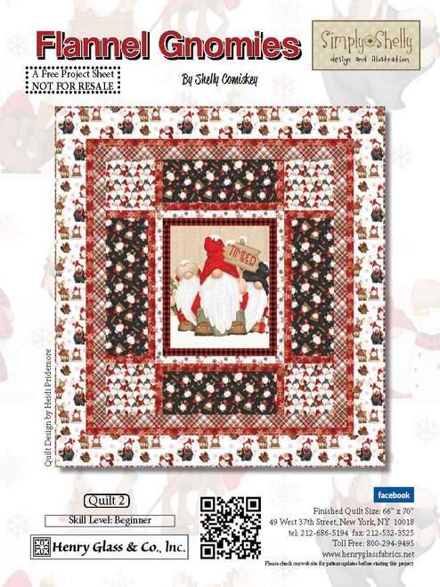 Flannel Gnomies Quilt 2 Kit 66 x 70