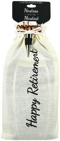 Retirement Gift Bag with bottle stopper