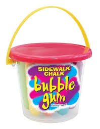 Sidewalk Chalk Bubble Gum