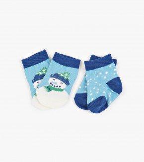 Baby Socks: Snowman 0-12M