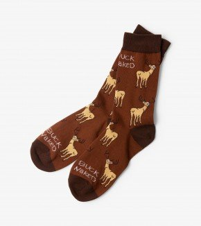 Men's Socks: Buck Naked