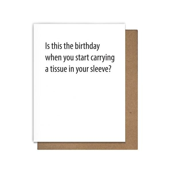 Cards: Tissue Birthday
