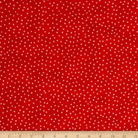 Dinky dots Bl. on red