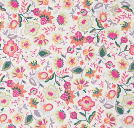 KC0412-001 Cotton Poplin - Flowers  (21B)