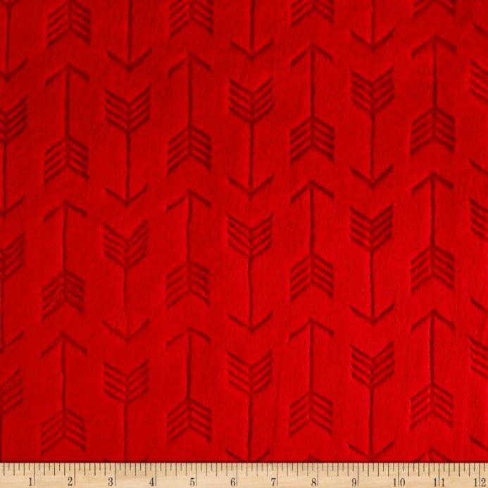 Scarlet Embossed Arrow  Cuddle Cloth