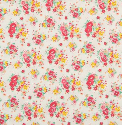 KC0472-051 Cotton Poplin - Flowers  (21B)