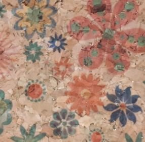 #1004 Cork Fabric 18x15 Allover Flower