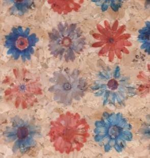 #1007 Cork Fabric 18x15 Small Flowers