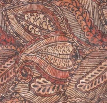 #1009 Cork Fabric 18x15  Red Paisley