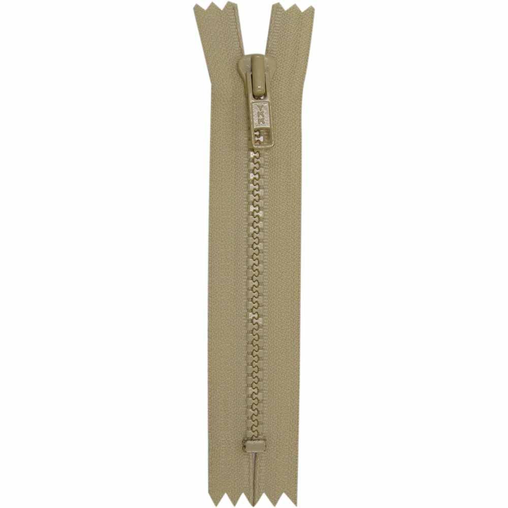Closed End Light Beige Activewear Zipper - 18 cm/7