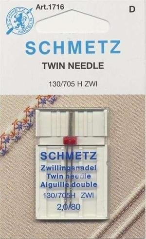 SCHMETZ #1716 Twin Needle Carded - 80/12 - 2.0mm - 1 count