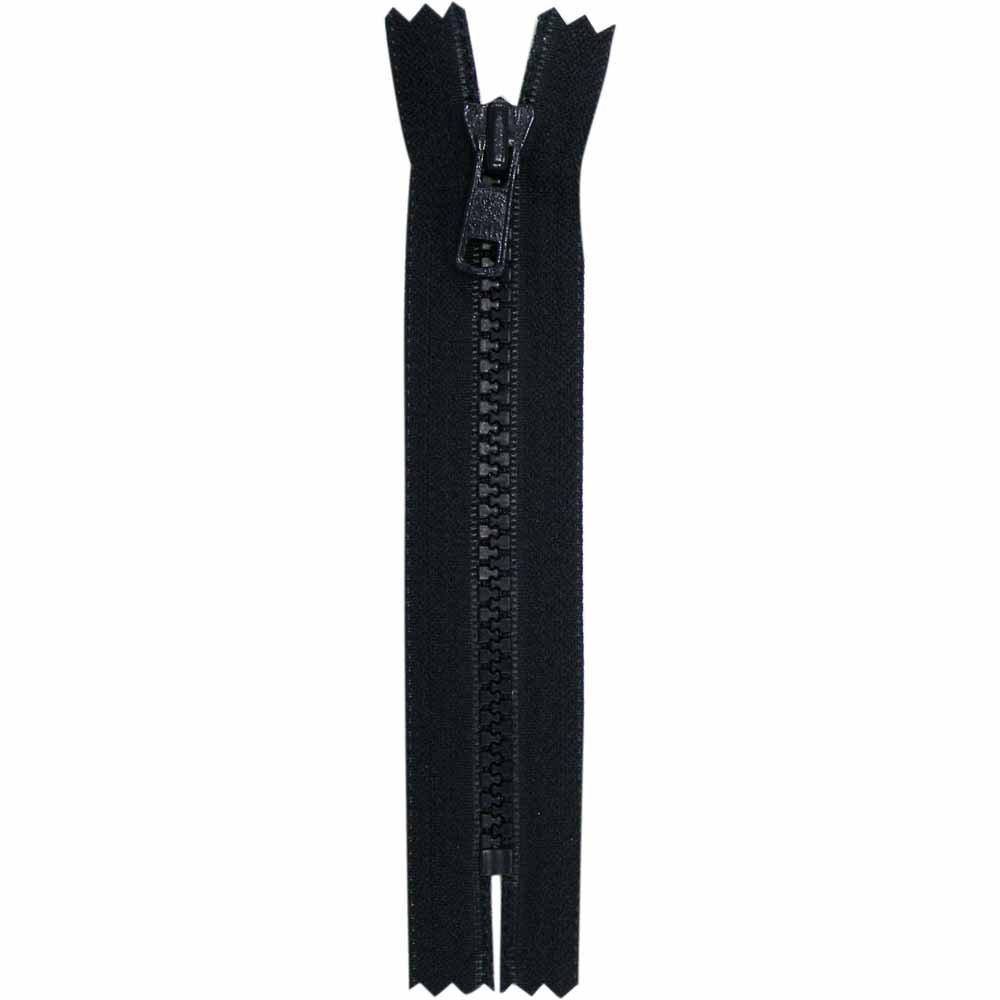 Closed End Black Activewear Zipper - 18 cm/7