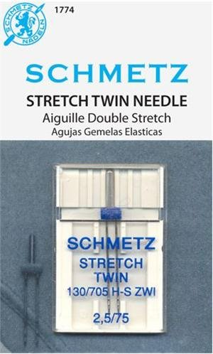 SCHMETZ #1774 Stretch Twin Needle Carded - 75/11 - 2.5mm - 1 count