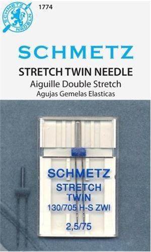 Schmetz Stretch Twin Needle Size 2,5 75/11