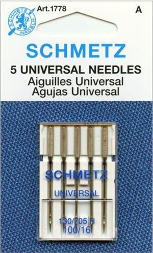 SCHMETZ #1778 Universal Needles Carded - 100/16 - 5 count